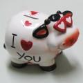 Cow - I Luv You Money Box